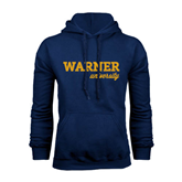 Navy Fleece Hoodie-Warner University