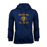 Navy Fleece Hoodie-Warner Alumni