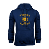 Navy Fleece Hood-Warner Alumni