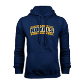 Navy Fleece Hoodie-Sand Volleyball