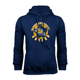 Navy Fleece Hoodie-Soccer Circle Design