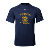 Under Armour Navy Tech Tee-Warner Alumni