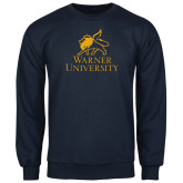 Navy Fleece Crew-Official Logo