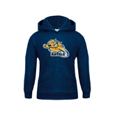 Youth Navy Fleece Hoodie-Warner Royals w/ Lion