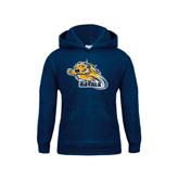Youth Navy Fleece Hood-Warner Royals w/ Lion
