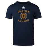 Adidas Navy Logo T Shirt-Alumni