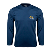 Performance Navy Longsleeve Shirt-Warner Royals w/ Lion