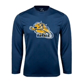 Syntrel Performance Navy Longsleeve Shirt-Warner Royals w/ Lion