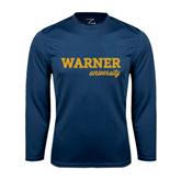 Performance Navy Longsleeve Shirt-Warner University