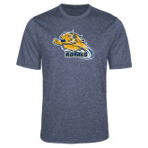 Performance Navy Heather Contender Tee-Flying Lion
