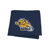 Navy Sweatshirt Blanket-Warner Royals w/ Lion