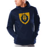 Under Armour Navy Armour Fleece Hoodie-Lion Head Shield