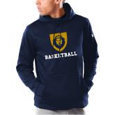Under Armour Navy Armour Fleece Hoodie-Basketball