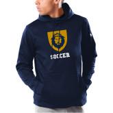 Under Armour Navy Armour Fleece Hoodie-Soccer