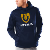 Under Armour Navy Armour Fleece Hoodie-Softball