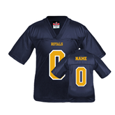 Youth Replica Navy Football Jersey-Personalized
