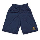 Midcourt Performance Navy 9 Inch Game Short-Official Logo
