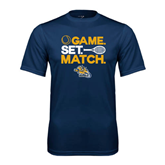 Syntrel Performance Navy Tee-Game. Set. Match. Tennis Design