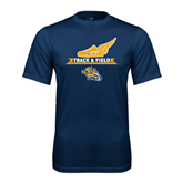 Performance Navy Tee-Track and Field Design