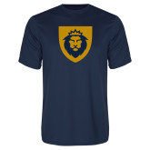 Performance Navy Tee-Lion Head Shield