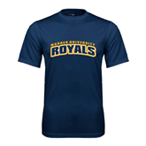 Performance Navy Tee-Arched Warner University Royals