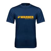 Performance Navy Tee-Warner University Royals w/ Lion Head