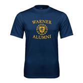 Performance Navy Tee-Warner Alumni