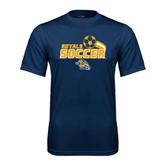 Performance Navy Tee-Soccer Swoosh Design
