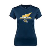 Ladies Syntrel Performance Navy Tee-Track and Field Design