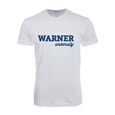 Next Level SoftStyle White T Shirt-Warner University