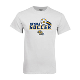 White T Shirt-Soccer Swoosh Design