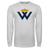 White Long Sleeve T Shirt-W Crown