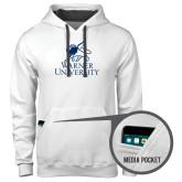 Contemporary Sofspun White Hoodie-Official Logo