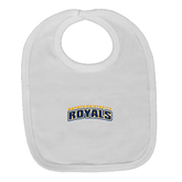 White Baby Bib-Arched Warner University Royals