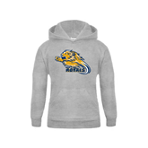 Youth Grey Fleece Hood-Warner Royals w/ Lion
