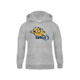 Youth Grey Fleece Hood-Warner Royals w/ Lion