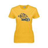 Ladies Gold T Shirt-Warner Royals w/ Lion