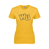 Ladies Gold T Shirt-WU