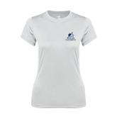 Ladies Syntrel Performance White Tee-Official Logo