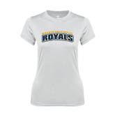 Ladies Syntrel Performance White Tee-Arched Warner University Royals