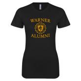 Next Level Ladies SoftStyle Junior Fitted Black Tee-Alumni