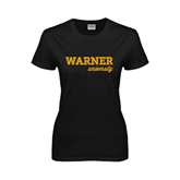 Ladies Black T Shirt-Warner University