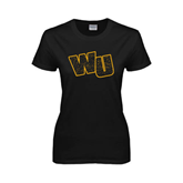 Ladies Black T Shirt-WU