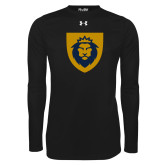 Under Armour Black Long Sleeve Tech Tee-Lion Head Shield