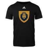 Adidas Black Logo T Shirt-Lion Head Shield