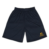 Performance Black 9 Inch Length Shorts-Official Logo