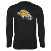 Performance Black Longsleeve Shirt-Flying Lion