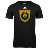 Adidas Climalite Black Ultimate Performance Tee-Lion Head Shield