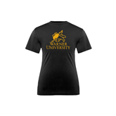 Youth Syntrel Performance Black Training Tee-Official Logo