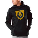 Under Armour Black Armour Fleece Hoodie-Lion Head Shield